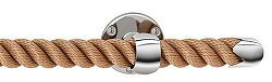 NAUTILUXE Nautical Rope Towel Bar/Curtain Rod (Natural/Chrome, 18'') by Nautical Luxuries (Image #1)