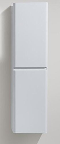 HAPPY 60'' BATHROOM LINEN SIDE CABINET WITH 2 STORAGE AREAS (HIGH GLOSS WHITE) by NEW YORK VANITY