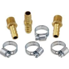 7pc Air Hose Repair Kit Solid Brass 3/8