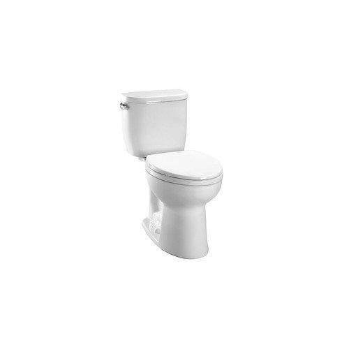 TOTO CST244EF#01 Entrada Elongated Toilet, Cotton, 2-Piece