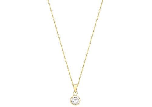 Carissima Gold Collar con colgante de oro de 9K con circonita