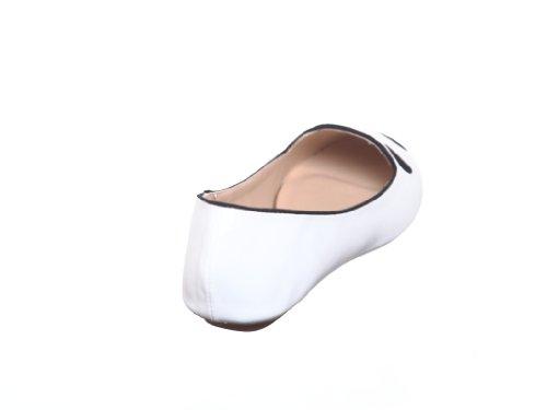 shoewhatever New Style!! Womens Cute Animal Loafer Slip-On Flat Shoes White Nubuck 3g2scV0Bgi