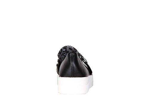 Mocassins python style basket - noir - femme