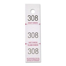 Coat Check Tickets, 3-Part, 500/PK, White, Sold as 1 Package, 500 Each per Package
