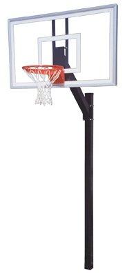 最初チームLegacy Nitro steel-glass in ground固定高さバスケットボールsystem44 ;スカーレット B01HC0CNCS