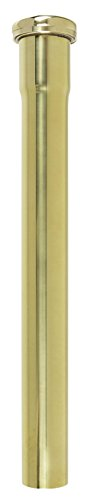 1-1/4 inch X 12 inch 17 Gauge Slip Joint Extension- Polished Unlacquered Brass