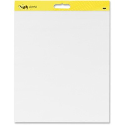 MMM566CT - Post-it Self-Stick Plain White Paper Wall Pad (Self 566 Wall Stick)