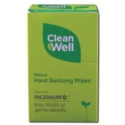 Hand Sanitizing Wipes Travel Size 10 Wipes by Cleanwell by Cleanwell