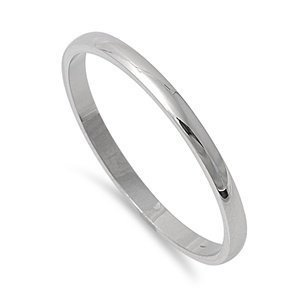 (Silverline Jewelry 2mm Stainless Steel Comfort Fit Unisex Wedding Band Ring Sizes 5, 6, 7, 8, 9, 10, 11, 12, 13 w/Gift Pouch (9))