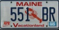 (Maine Lobster License Plate)