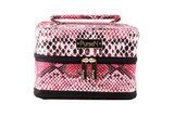 PurseN Mumbi Red/Black Tiara Vacationer Large Jewelry Case
