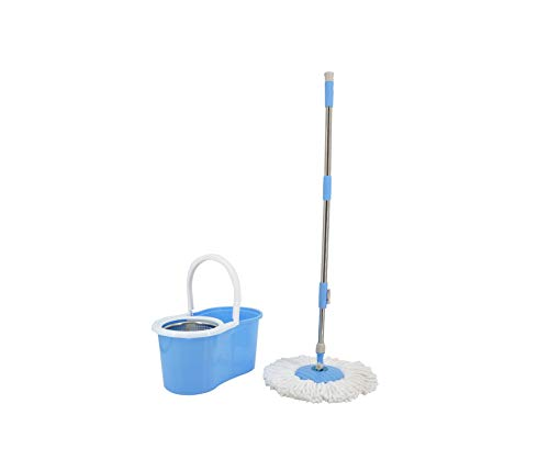 Smart Mop With Spin Nozzle For Mop Wash Floors Cloth Cleaning Broom Head Mop For Cleaning Floors Windows House Cleaning home,Blue,Russian Federation