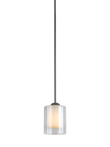(Woodbridge Lighting 28048-BRZ 1-Light Cosmo Mini Pendant, Bronze)