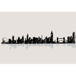 Die Cuts With A View Wall Art London Cityscape Peel & Stick, Large, 2 Sheets