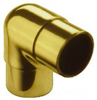 Bar Railing Fittings 90° Ell Flush Fittings, Solid Brass and Stainless Steel