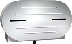 ASI 0040 Surface Mounted Twin Toilet Tissue Dispenser, 9