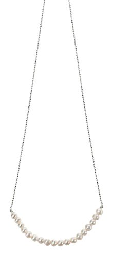 Necklace Element Pearl Jewelry (Elements Silver Womens Freshwater Pearl Necklace - Silver/White)