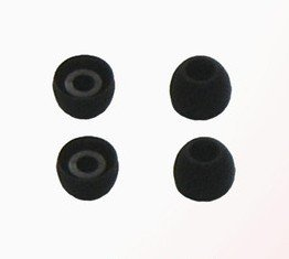 UpBright 4x Black Small Size Earbud Ear bud Tips Cushions For Logitech Ultimate Ears Noise-Isolating Earphones TripleFi 10 10vi,MetroFi 100 150 170 200 200v 220 220vi,ltimate Ears SuperFi 3 5,