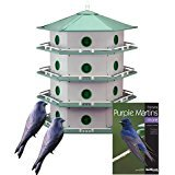 Heath 24-Room Deluxe Purple Martin House with Book & Decoys
