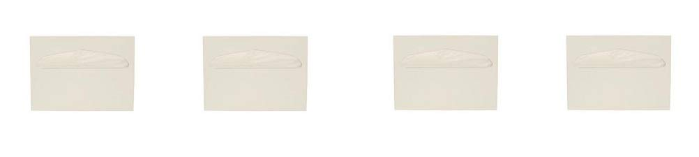 Health Gards Toilet Seat Cover Dispenser Half-Fold White, Metal, Wall Mounted, Hospeco TSC-1W (4-(Pack))