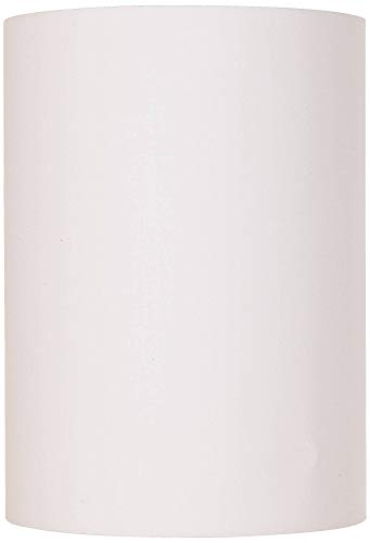 White Cotton Small Drum Cylinder Shade 8x8x11 (Spider) - Brentwood (Shades Drum Lamp)