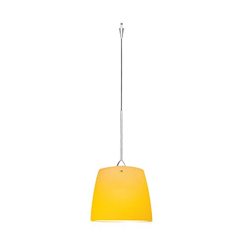 WAC Lighting QP-LED513-AM/CH Ella Quick Connect LEDme Pendant with Amber Shade and Chrome Socket - Connect Ella Quick