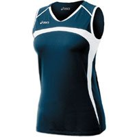 Price comparison product image Womens ASICS Ace Jersey Sleeveless,  Color:Navy / White,  L
