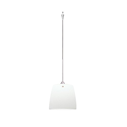 WAC Lighting QP-LED513-WT/BN Ella Quick Connect LEDme Pendant with White Shade and Brushed Nickel Socket - Ella Quick Connect
