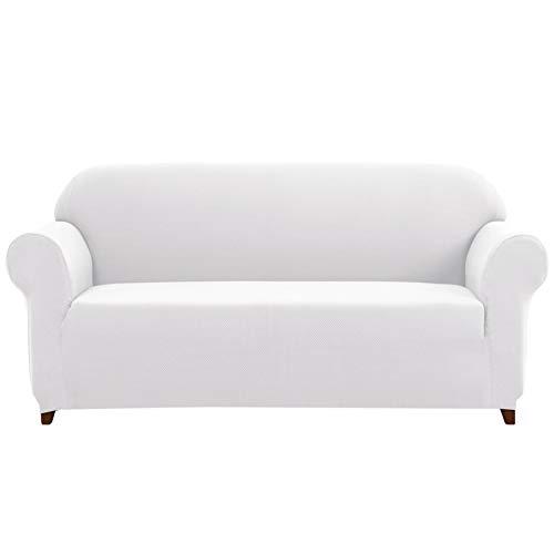 Subrtex 1-Piece Knit Jacquard Spandex Stretch Couch Slipcove