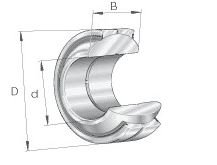 INA GE80-FW-2RS-A PLAIN SPHERICAL BEARING by INA