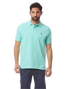 (Polo Ralph Lauren Classic Fit Mesh Pony Logo Polo Shirt (S, LightGreen))