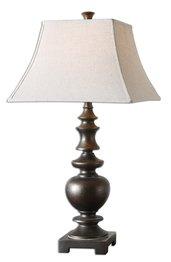 Nickel David Lamp Table (Uttermost 26830 Verrone Lamp 17 x 17 x 32.5, Bronze, 32.5