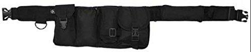 GEO-VERSAND Hüftgurt mit 6 Taschen - Gürtel , schwarz, One Size, 10195