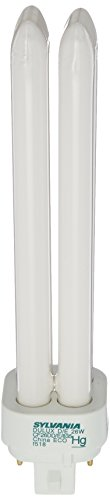 Sylvania 20673 Compact Fluorescent 4 Pin Double Tube 3500K, 26-watt (Tube Double 26w)