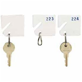 Mmf Slotted Rack Key Tags With Snap-Hook 5313231ac06 - Numbered 41-60, White (Mmf Industries Key Tags)