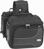 (River Road Textile Box Saddlebags Black M/medium)