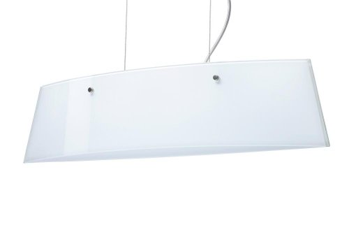 Besa Lighting LS3-445406-SN 3X40W G9 Silhouette 28 Pendant with Opal Glossy Glass, Satin Nickel Finish