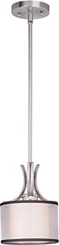 Mini Pendants 1 Light Bulb Fixture with Satin Nickel Finish Medium Bulb Type 8 inch 75 Watts - Light Orion 1 Collection