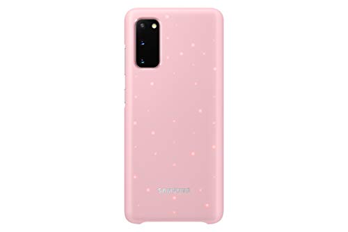 Samsung Galaxy S20 Case, Protective Smart LED Back Cover - Pink (US Version with Warranty) (EF-KG980CPEGUS)