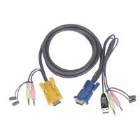 One Usb Kvm Cable - IOGEAR Micro-Lite Bonded All-in-One USB KVM Cable, 15 Feet, G2L5305U