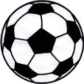 - Soccer Ball - White And Black - Embroidered Iron On or Sew On Patch