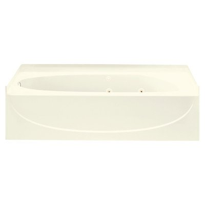 "Acclaim 30"" Whirlpool Tub Drain Location: Left, Finish: Biscuit"