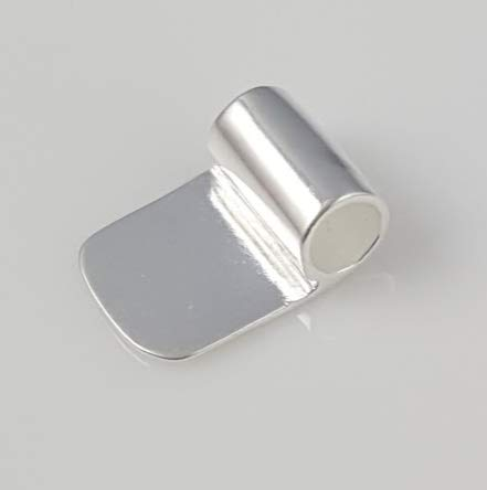 Bright Silver Glue On Tube Bail (Qty 20) - Ships from WI, USA (519-BS) ()