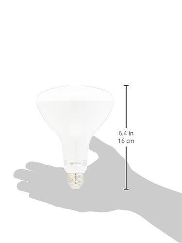 AmazonBasics 100 Watt Equivalent, Dimmable, BR40 LED Light Bulb | Soft White, 4-Pack