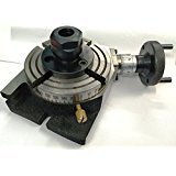 New Brand 4'' (100 mm) Rotary Table with ER-20 Collet Adapter for Milling, Engineering Tool by ADI