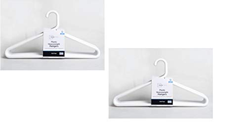 - Mainstay Super Heavy Weight Hanger, White, 9-Pack (Pack of 2)