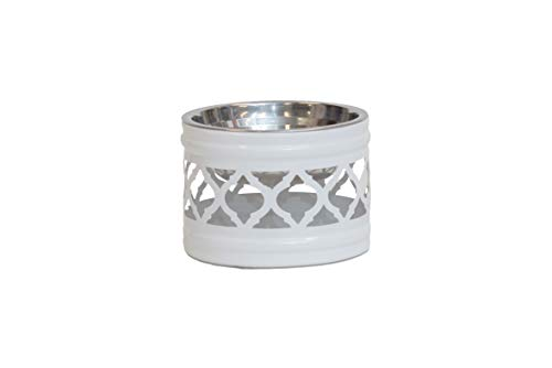 Unleashed Life Draper Collection - White Dog, Cat & Pet Bowl for Food and - Bowls Collection Pet