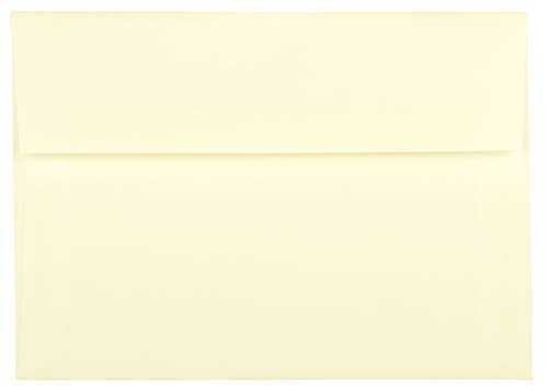 50 Ecru Ivory Natural A2 Square Flap (4-3/8 X 5-3/4) Envelopes for 4-1/8 X 5-1/2 Response Enclosure Invitation Announcement Wedding Shower Communion Christening Cards