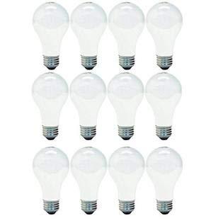 GE Lighting 66247 Soft White 43-Watt, 620-Lumen A19 Light Bulb with Medium Base, 12-Pack ()