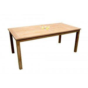 Table de jardin en teck brut - Nias - 180 x 90 cm: Amazon.fr ...